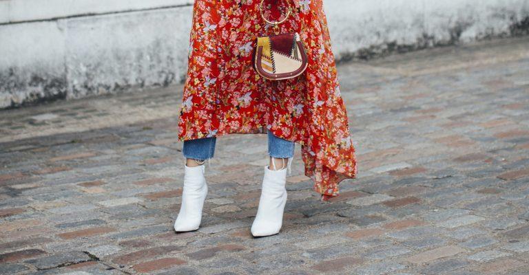 Trend Schuhe Herbst Weiße Stiefel