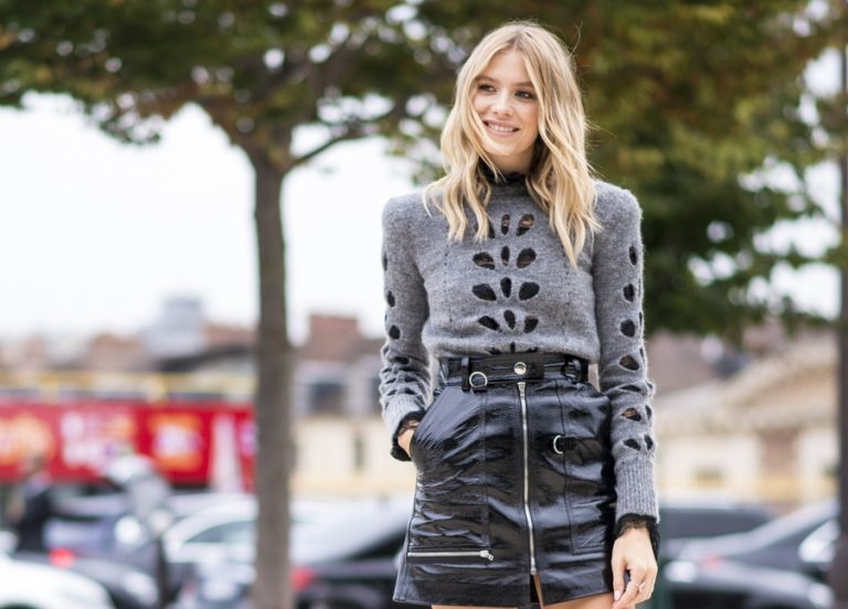 Pullover zu Rock kombinieren Winter