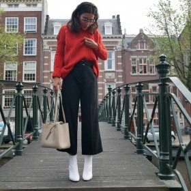 Weiße Stiefeletten stylen