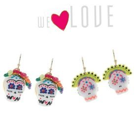 Fashiola loves... die farbenfrohen Skull Ohrringe!