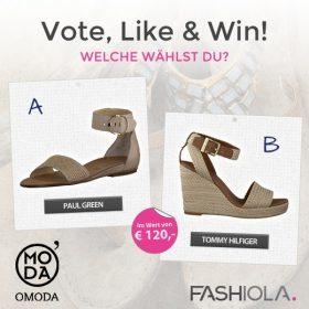 Vote, share & win dein Lieblingspaar Schuhe von Omoda!