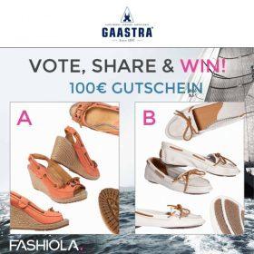 Vote, share & win dein Lieblingspaar Schuhe von Gaastra