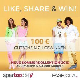 Like, share & win einen 100€ Gutschein von Spartoo!