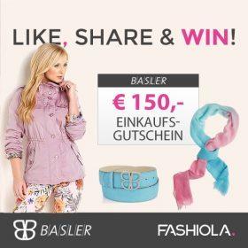 Like, share & win einen 150€ Gutschein von Basler!