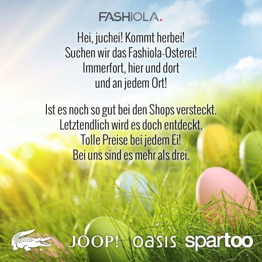 Ostern bei Fashiola.de - Gewinne 4 Gutscheine ab 150 €