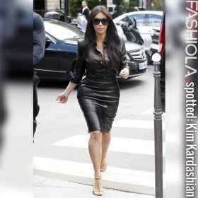 Kim Kardashian Leatherlook | HOT or NOT?