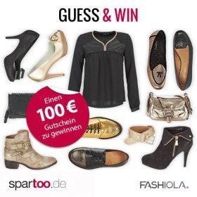 Guess & Win einen 100 € Gutschein von Spartoo!