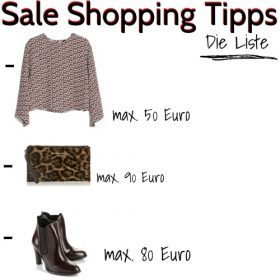 Sale Shopping Tipps