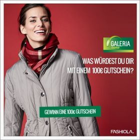 Comment & Win einen 100 € Gutschein von GALERIA Kaufhof