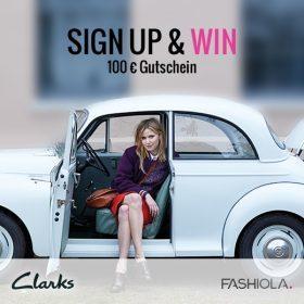 Sign up & Win einen 100 Euro Gutschein von Clarks!