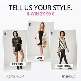 Comment & Win zwei 50€ Gutscheine von TOPSHOP!