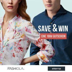 Save & Win einen 100€ Gutschein von Eterna