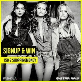 Sign up & Win einen 150 Euro Gutschein von G-Star!