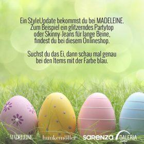 Finde das Osterei von MADELEINE und gewinne einen 150 € Shopping Gutschein!