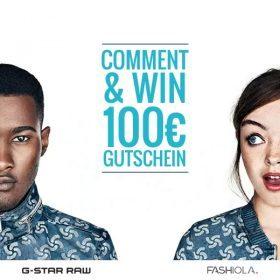 Comment & Win einen 100 € Gutschein von G-Star!