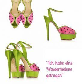 Spotted: Wassermelonen-Sandalen von Forzieri
