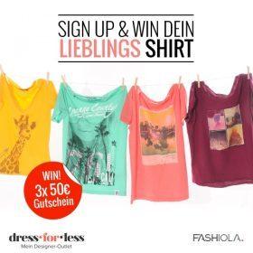 Happy Holiday: Entdecke die T-Shirts von Dress-for-less & Gewinn!