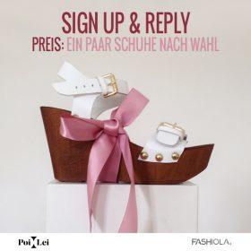 Sign up & Reply: Gewinne ein paar Schuhe nach Wahl von Poi Lei!