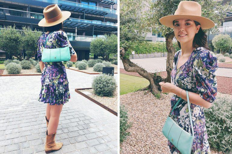 LUISAVIAROMA Sommer Accessoires Türkise Handtasche Hut