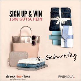 Sign up & Win einen Gutschein von dress-for-less!