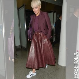 Like or dislike: Rita Ora's Burgundy Look