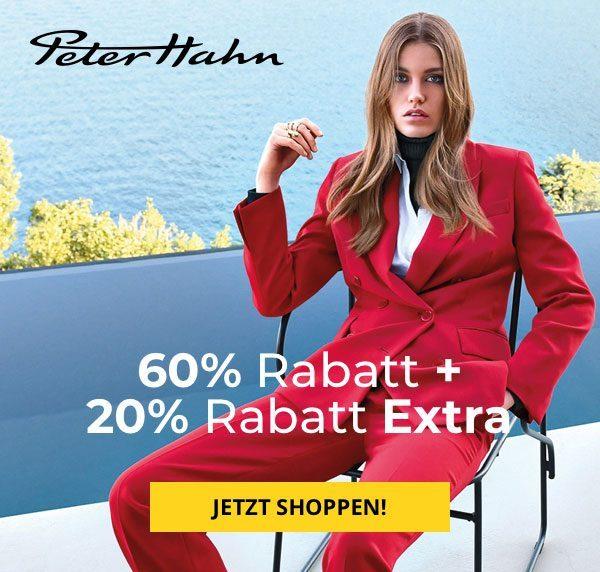 60% Rabatt + 20% Rabatt Extra bei Peter Hahn
