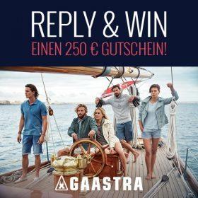 Reply & Win für einen 250€ Gutschein bei Gaastra