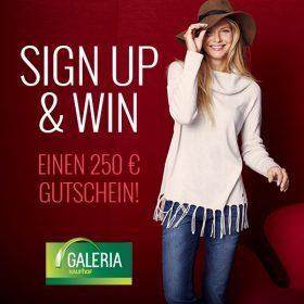 Sign up & Win mit einem 250€ Gutschein von GALERIA Kaufhof