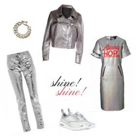 Dress fancy: Metallic-Hosen