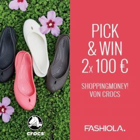 Pick & Win: 2 x 100 € Shoppingmoney von Crocs!