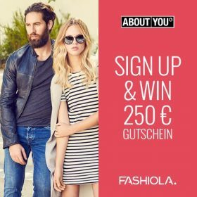 Sign up & Win: 250 € Shoppingmoney von ABOUT YOU!