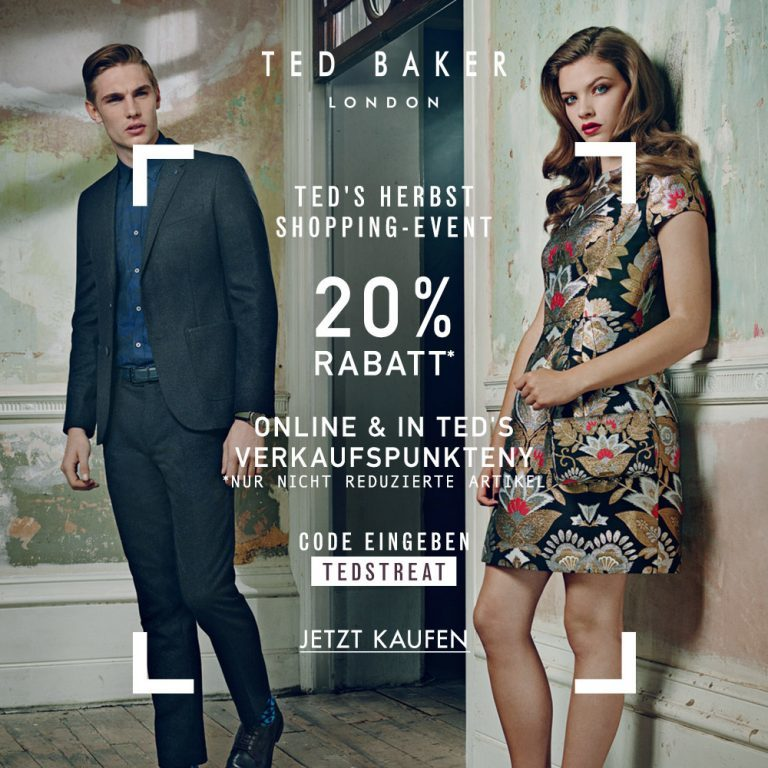 Ted's Herbst Shopping Event: 20% Rabatt!