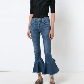 Jeans mit Rüschensaum