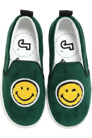 "JOSHUA SANDERS SLIP-ON-SNEAKERS AUS LEDER UND SAMT ""SMILE"""
