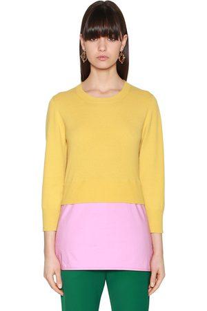 Damen Sweatshirts - Marni SWEATER AUS STRICK UND POPELINE