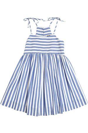 Milly Mädchen Bedruckte Kleider - KLEID AUS BAUMWOLLCHAMBRAY MIT STREIFEN
