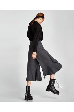 Zara CULOTTE-HOSE IN WICKELOPTIK