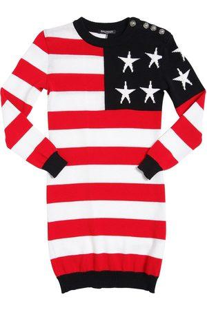 Balmain Mädchen Kleider - KLEID AUS BAUMWOLLFLEECE MIT US-FLAGGE