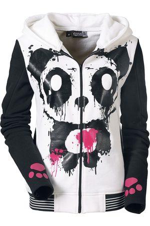 Killer Panda Mase Hood Kapuzenjacke weiß/
