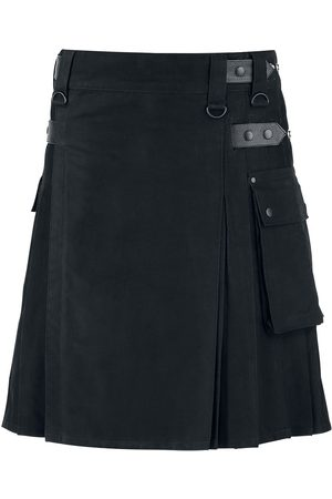 Black Premium by EMP Kilt Mittellanger Rock