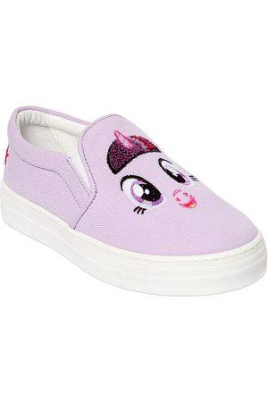 "JOSHUA SANDERS Mädchen Sneakers - SLIP-ON-SNEAKERS AUS CANVAS MIT PATCH ""UNICORN"""