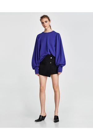 Zara Damen Culotten - HOSENROCK AUS WILDLEDERIMITAT - In weiteren Farben verfügbar