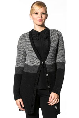 Damen Strickjacken - Kookai Damen Cardigan anthracite E1346/TB