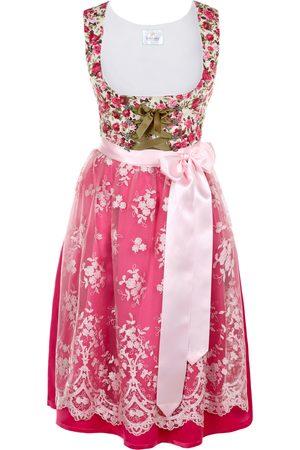 Edelnice Damen Dirndl - Midi Dirndl Made in Germany pink