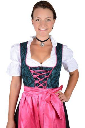 Edelnice Damen Dirndl - Almhouse Dirndl Lara pink petrol