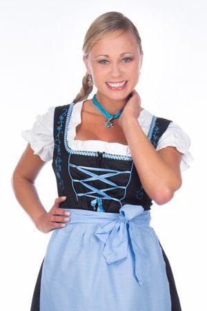 Edelnice Damen Dirndl - Mini Dirndl 3-teilig blau