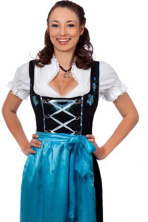 Edelnice Damen Dirndl - Langes Dirndl 3-teilig Trachtenkleid