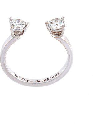 DELFINA DELETTREZ 18kt 'Dots' Fingerspitzenring aus Weißgold mit Diamanten