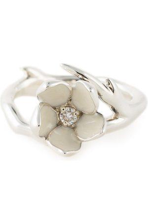SHAUN LEANE Cherry Blossom' Sterlingsilberring mit Diamanten