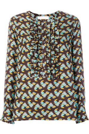 La DoubleJ Damen Blusen - Seidenhemd mit Rüschenlatz
